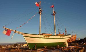 La goleta Ancud zarpó el 22 de mayo de 1843 al mando del capitán de fragata Juan Williams  fondeó el 21 de septiembre de 1843 en Punta Santa Ana, a dos kilómetros del territorio posteriormente llamado Puerto del Hambre, procediendo el referido capitán Guillermos a tomar posesión del Estrecho de Magallanes y territorios adyacentes a nombre del Gobierno de Chile.