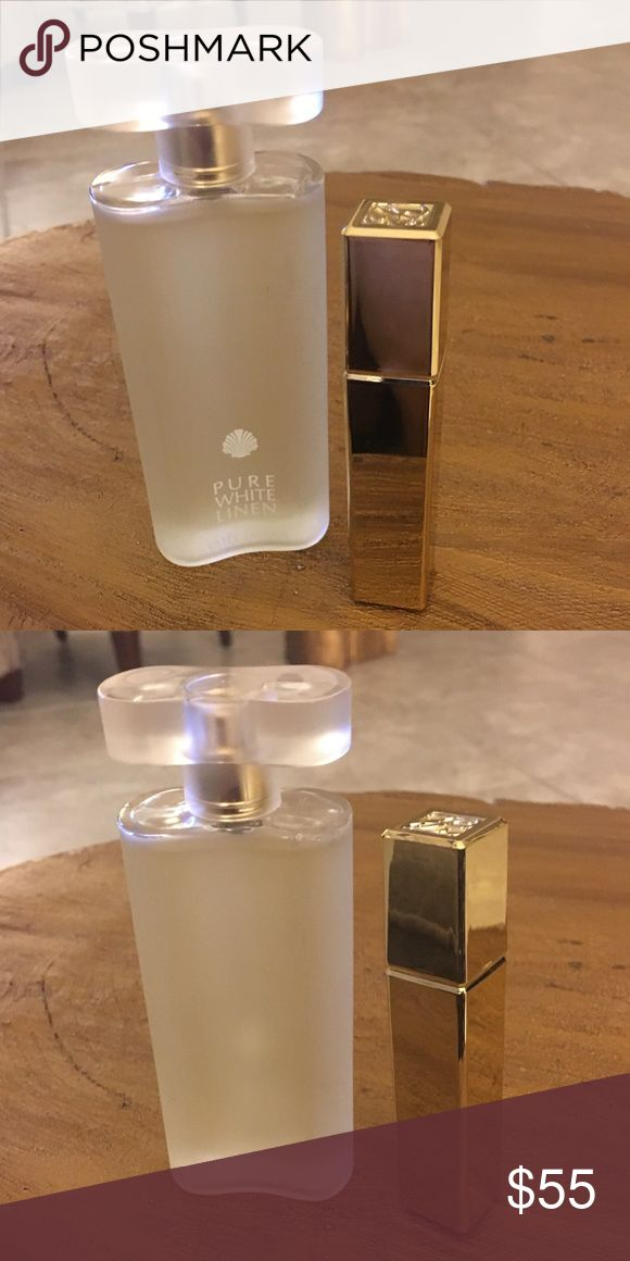 ESTÉE LAUDER PURE WHITE LINEN EDP 2-piece BUNDLE ESTÉE LAUDER PURE WHITE LINEN EDP SPRAY,  2 Piece Bundle  Pure White linen, Eau de parfum spray, 1.7 oz / 50ml   Pure White Linen, purse size perfume spray, 5ml  Smoke-free home (pet-friendly) Both items are unused/unboxed  Make me an offer!  Please check out my other listings. I love to give Bundle discounts! Estee Lauder Other