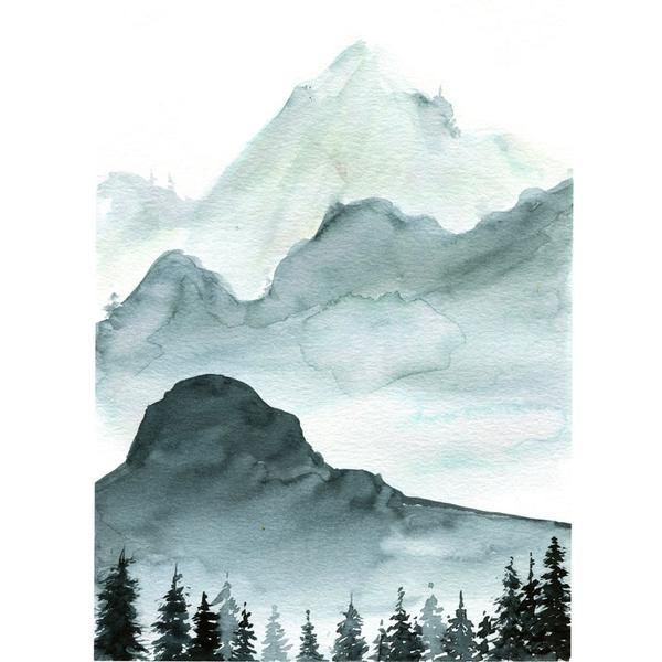 Monochrome Mountains Watercolor Kit In 2020 Monochromatic Art