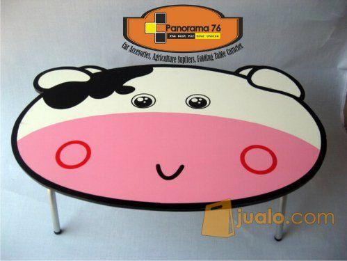 Meja Lipat Karakter Sapi Lucu untuk anak-anak Retail/Grosir Meja Lipat Karakter Lucu untuk anak-anak ,ringan dan koko