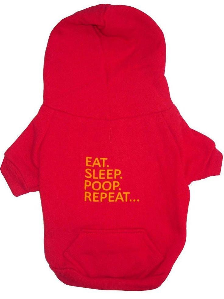 EAT. SLEEP. POOP. REPEAT... - Fleece Zip Hoodie in Multi Colors