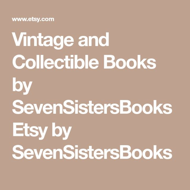 Vintage and Collectible Books by SevenSistersBooks Etsy by SevenSistersBooks