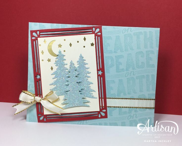 Use the extra large sentiments from the Carols of Christmas bundle to create a lovely background for your projects. #stampinup #carolsofchristmas