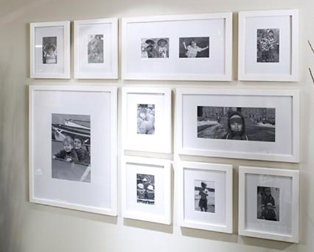 Photo Wall Ideas With Different Frames : Best ideas about white photo frames on