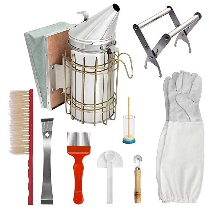 9 Pcs Set Bee Tool Beekeeping Equipment Beekeeper Tools Catcher Hive Tool Kits