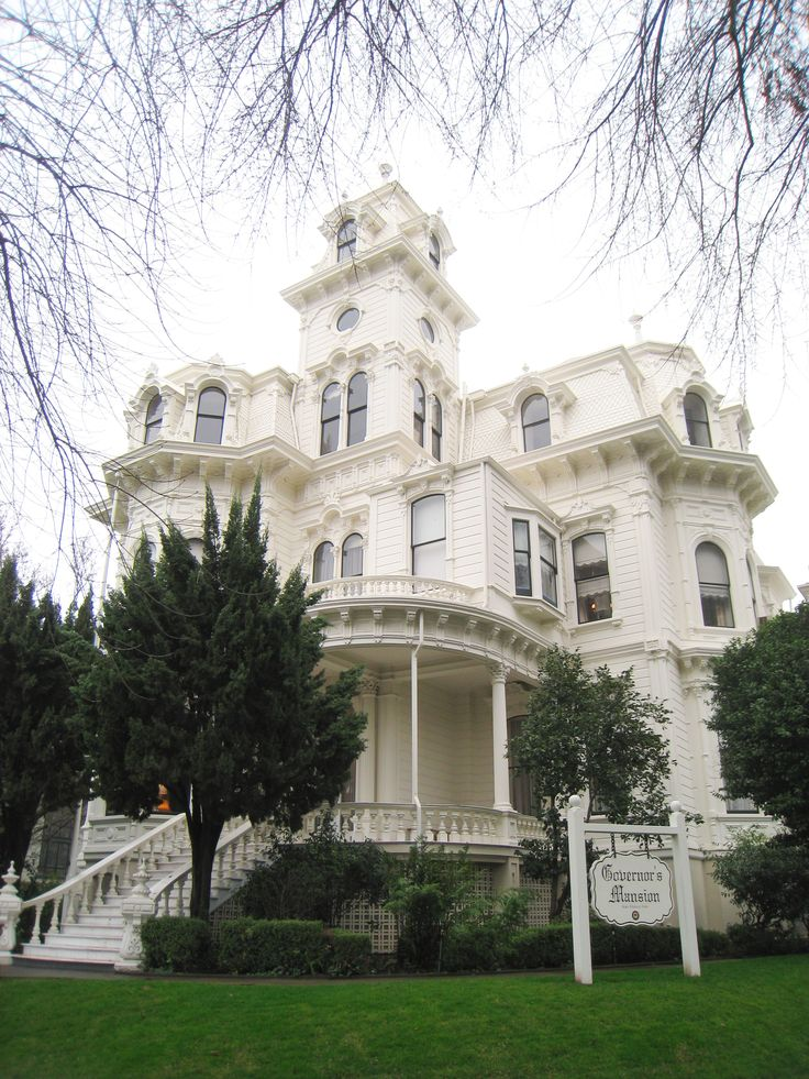 The 1877 Governor's Mansion State Historic Park, Sacramento.  This house is beautiful, full of special architectural detail, and the whole thing is white? Unbelievable.