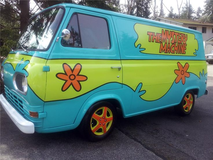 1965 ford falcon econoline van customized as the mystery machine random cool stuff. Black Bedroom Furniture Sets. Home Design Ideas