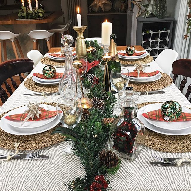 Christmas Table Set Up Melaniejadedesigns Tablesetting
