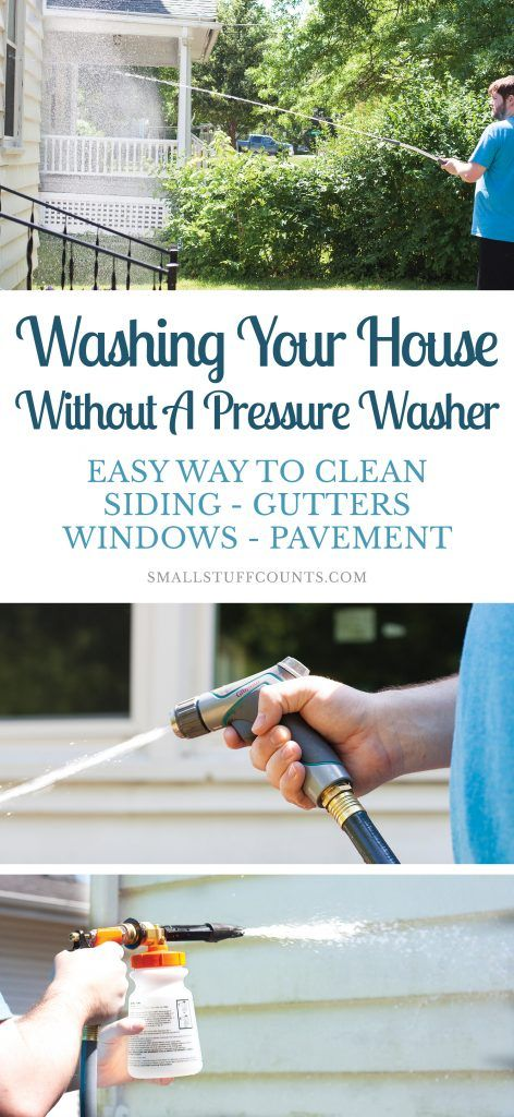 Washing A House Exterior Without A Pressure Washer (Siding, Gutters, Windows, Pavement)
