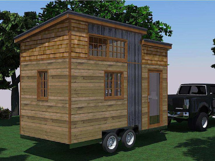 The lumbec tiny house can be built on wheels or a solid for Tiny house on foundation