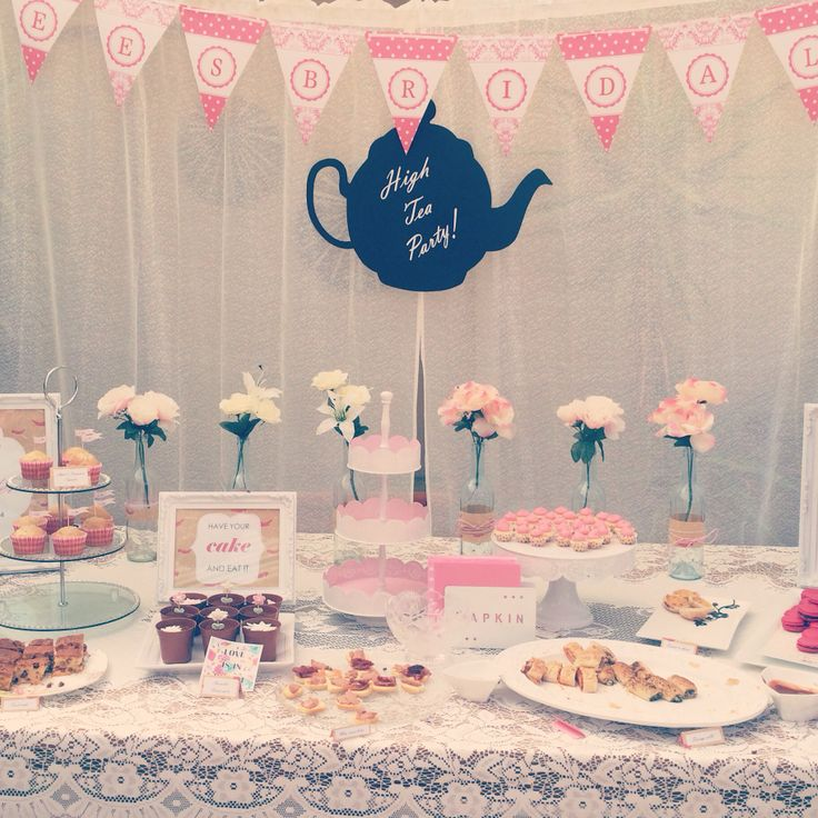 1000 images about bridal shower on pinterest high tea for Afternoon tea decoration ideas