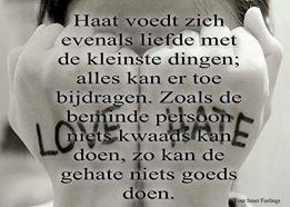haat voeldt zich als liefde ...
