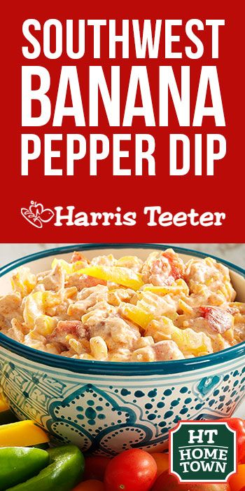 This delicious and spicy Southwest Banana Pepper Dip will add a flavorful kick to your next nacho plate or vegetable tray.