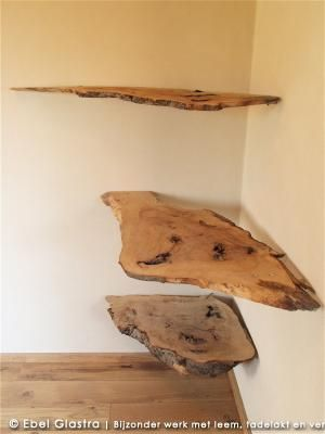 Origineel! Boekenplanken van natuurlijk hout!