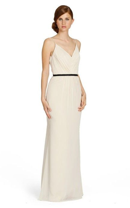 Chiffon Sleeveless A-line Floor-length Natural Bridesmaid Dresses