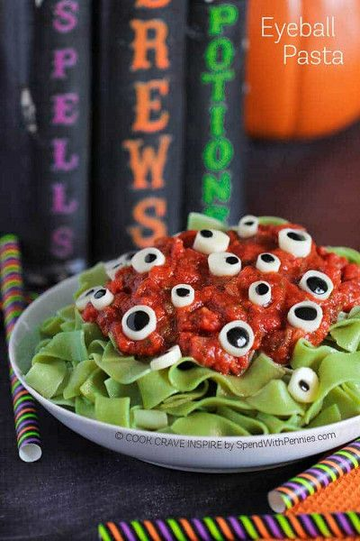 Make the appetizers as scary as the decor.
