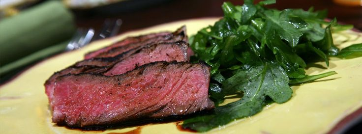 Grilled Steak with Coffee Rub.  We saw Nick Stellino make this the other night and wished he could give us a bite through the television screen!