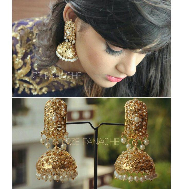 """SOLD OUT! These stunning jadau jhumkis are a must have #jadau #mughal #oldera #bridal #bride #accessoryaddict #bridaljewels #desiblog #desingerjewelry…"""