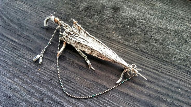 Handmade jewelry artist sculpture silver-gold studio Umbrella rubies cirkon Emeralds silver-gold.. Www.jony11.gallery-art.pl.. #jewlerydesign #jewellery #handmadejewelery #artwork #etsymetalsmith
