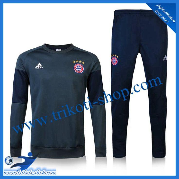 New Bayern München Trainingsanzug Schwarz/Grau 2016 2017 Ausrüstung Shop