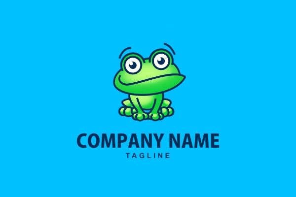 Logo for sale: Frog Logo #frog technology children kids natural animal pond blue green cartoon unique original online website technology #logo logos http://www.logoground.com/logo.php?id=13697