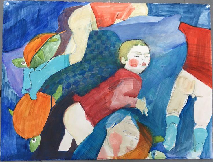 Child/Franek, Watercolours and pencils on watercolour paper, 2007.