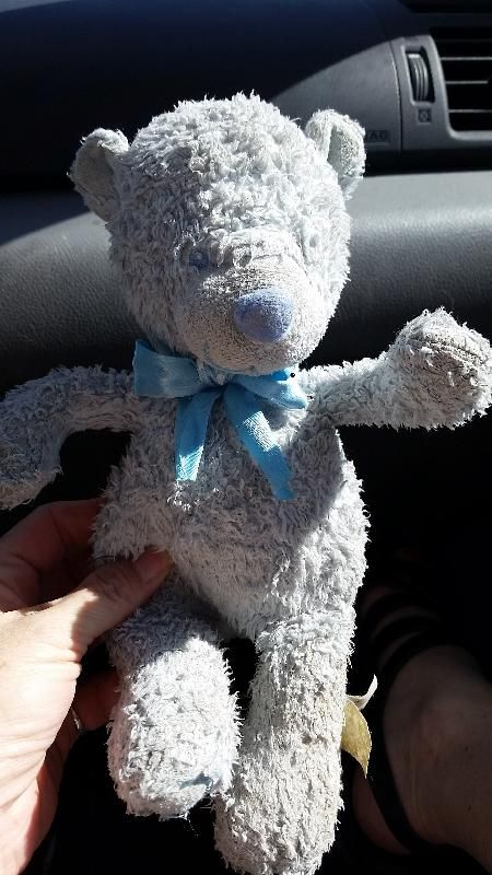 Found on 01/06/2015 @ West Parking Lot, Denver International Airport. Small (10.5 in) light blue bear with blue bow. Tag is totally worn. Bear is well loved. Not sure if it is in the shape it's in due to use or due to being on the ground in the parking lot. I fou... Visit: https://whiteboomerang.com/lostteddy/msg/jx5df9 (Posted by Kristin on 03/06/2015)