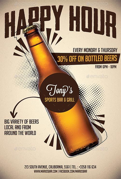 Beer Promotion Happy Hour Flyer Template – ffflyer.com/… Enjoy downloading the…