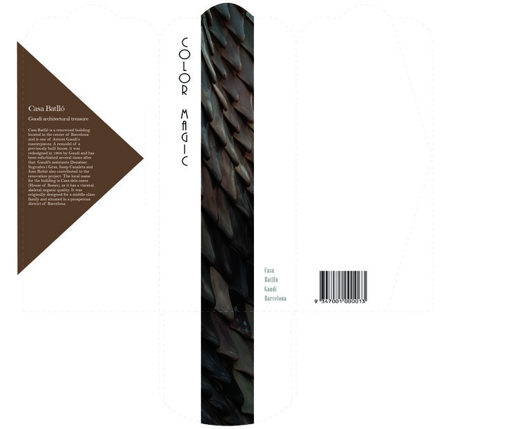 Packaging design for the swatch cards.(front)