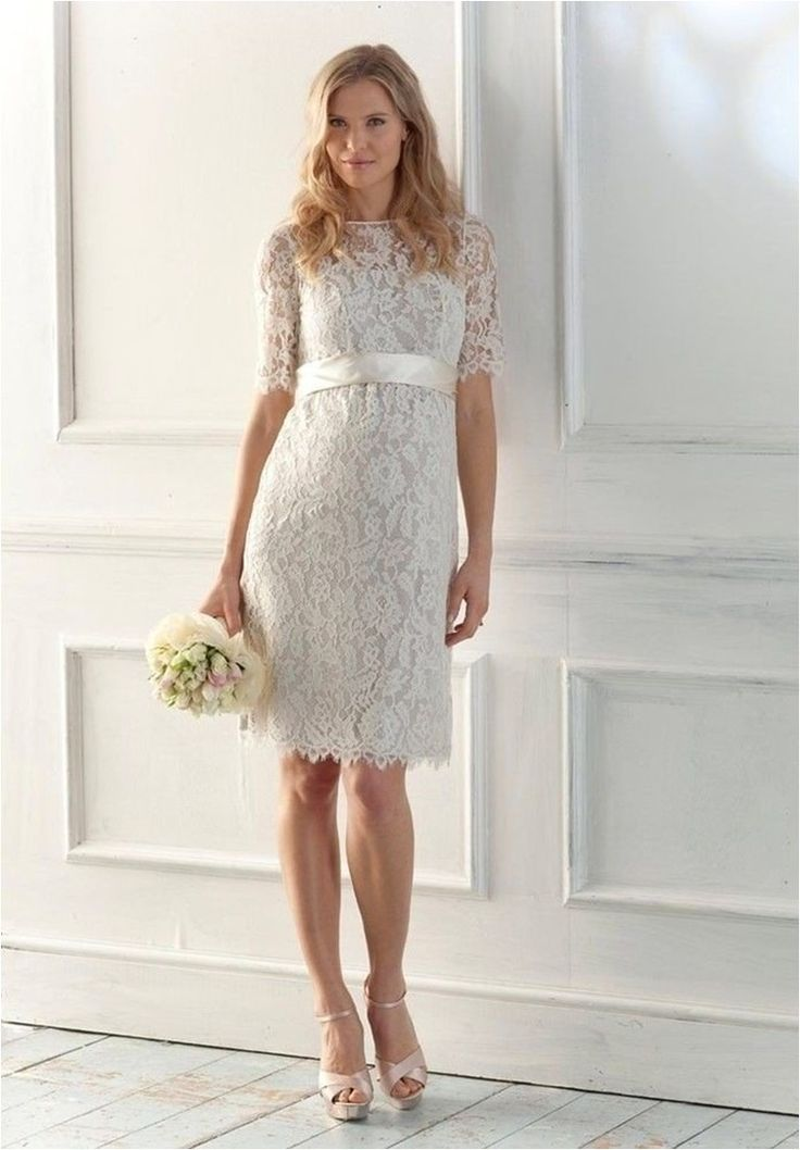 beauty-knee-length-wedding-dress
