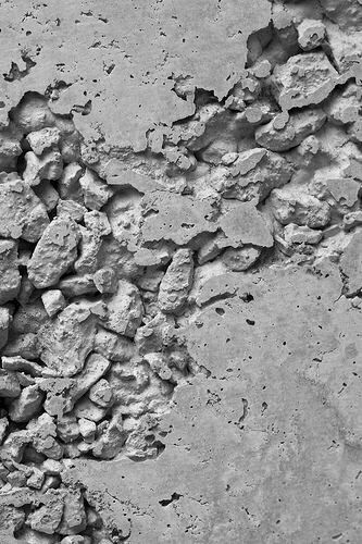Texture rock- contrast of rough and smooth