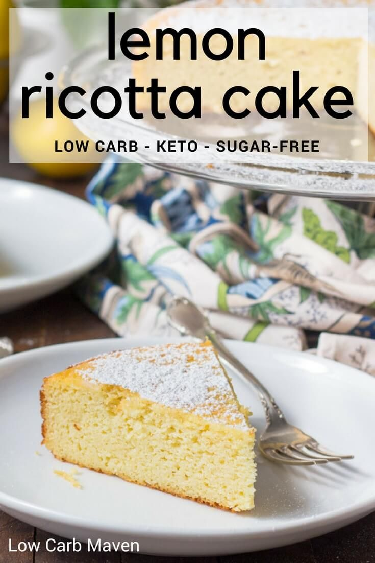 An easy lemon ricotta cake made from ground almonds and ricotta cheese