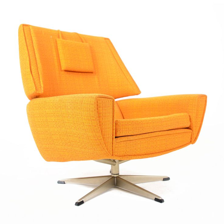 danish modern danish design orbit swivel lounges chairs midcentury