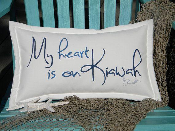 "Outdoor pillow Kiawah Island special edition 12""x20"" lowcountry beach golfing South Carolina Crabby Chris Original"