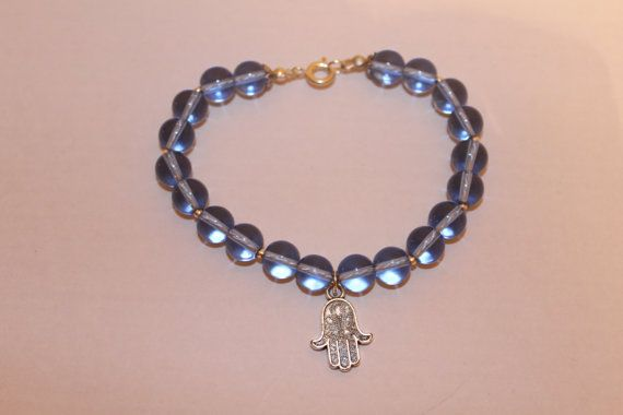 Crystal Hamsa Bracelet by JennyferPicolo on Etsy