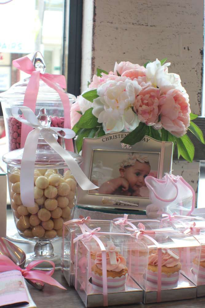 Pink Baptism Party Ideas | Photo 5 of 15 | Catch My Party