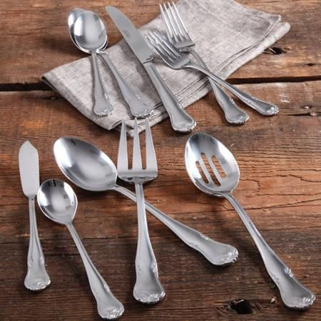 The Pioneer Woman Alex Marie 45-Piece Stainless Steel Flatware Set with Decorative Butterfly - Walmart.com