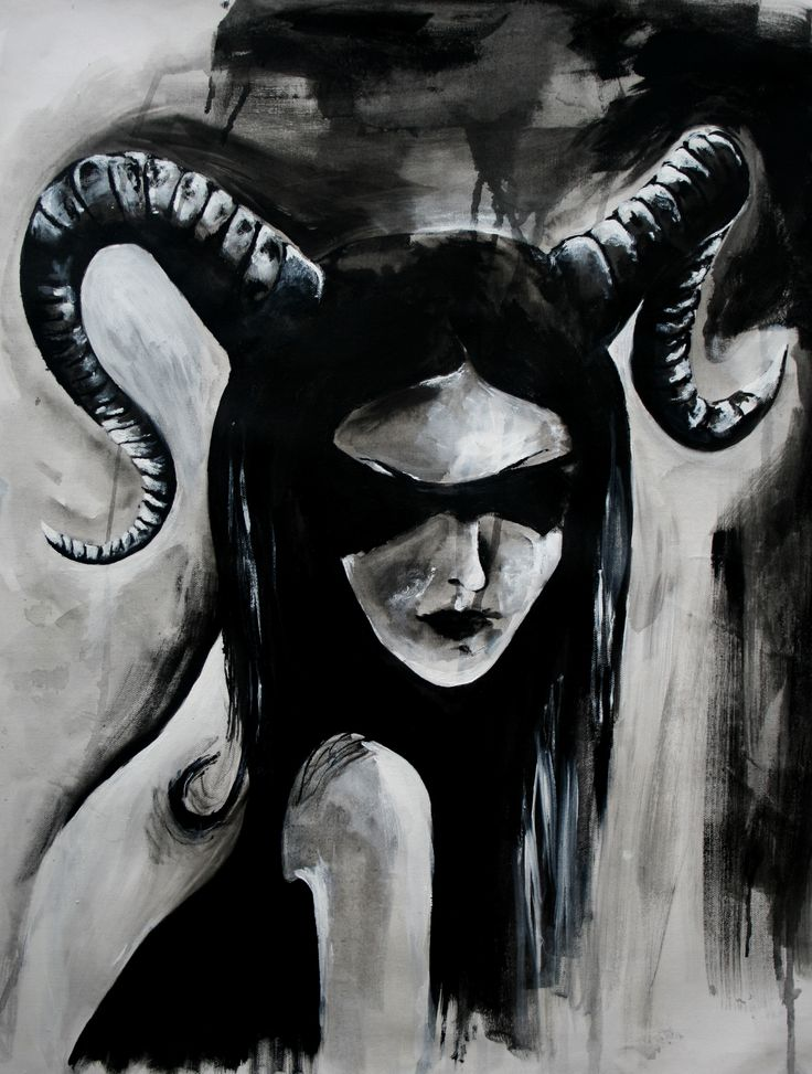 'Faun' by Lily Rusu Acrylic on canvas; 50 x 70 cm; Surrealism; 2014.  See more of Lily's art http://www.studentartworks.org/author/lily-rusu/  www.studentartworks.org