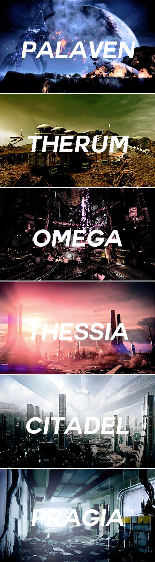 mass effect things; locations