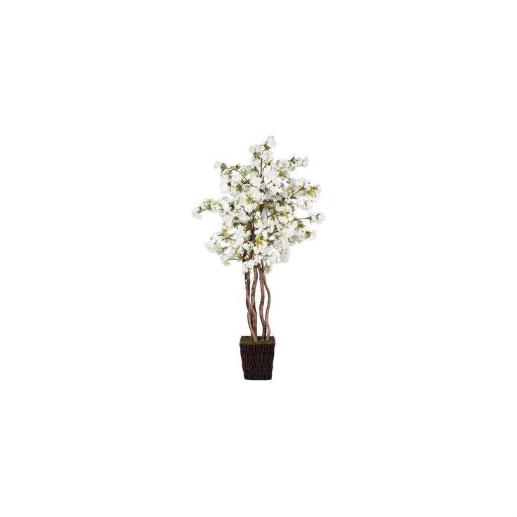 Artificial White Cherry Blossom Deluxe (7ft) White - Vickerman