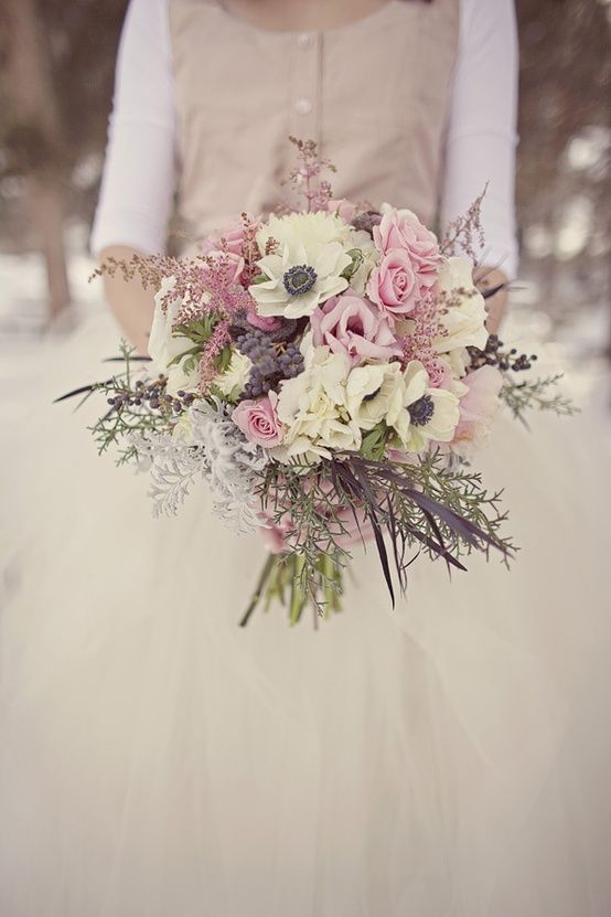 Winter Wedding Bouquets Look More Closely At Foliage