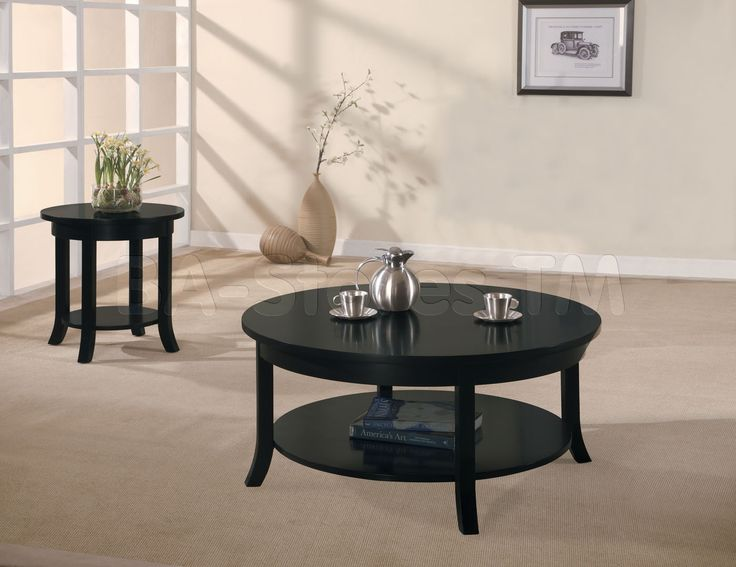 Black Round Coffee Table Sets