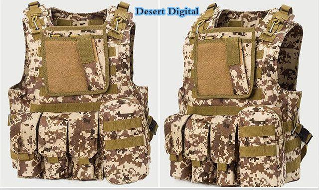 Tactical Military Molle Combat Assault Plate Carrier Vest