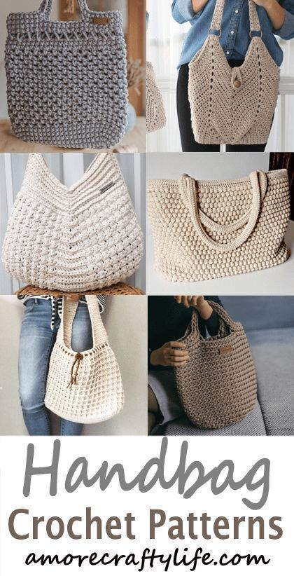 bag crochet patterns – handbag crochet pattern- purse tote- crochet pattern pdf …