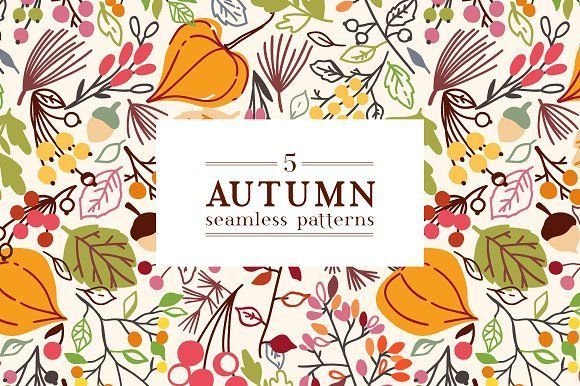 Autumn is coming by Maria Galybina on @creativemarket Perfect for product design, crafts, room decor, invitations, greeting cards, tags, labels and so much more. **Affiliate Link**