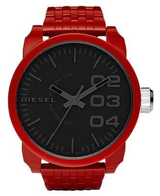 For red-hot style: DIESEL #red #mens #watch BUY NOW!