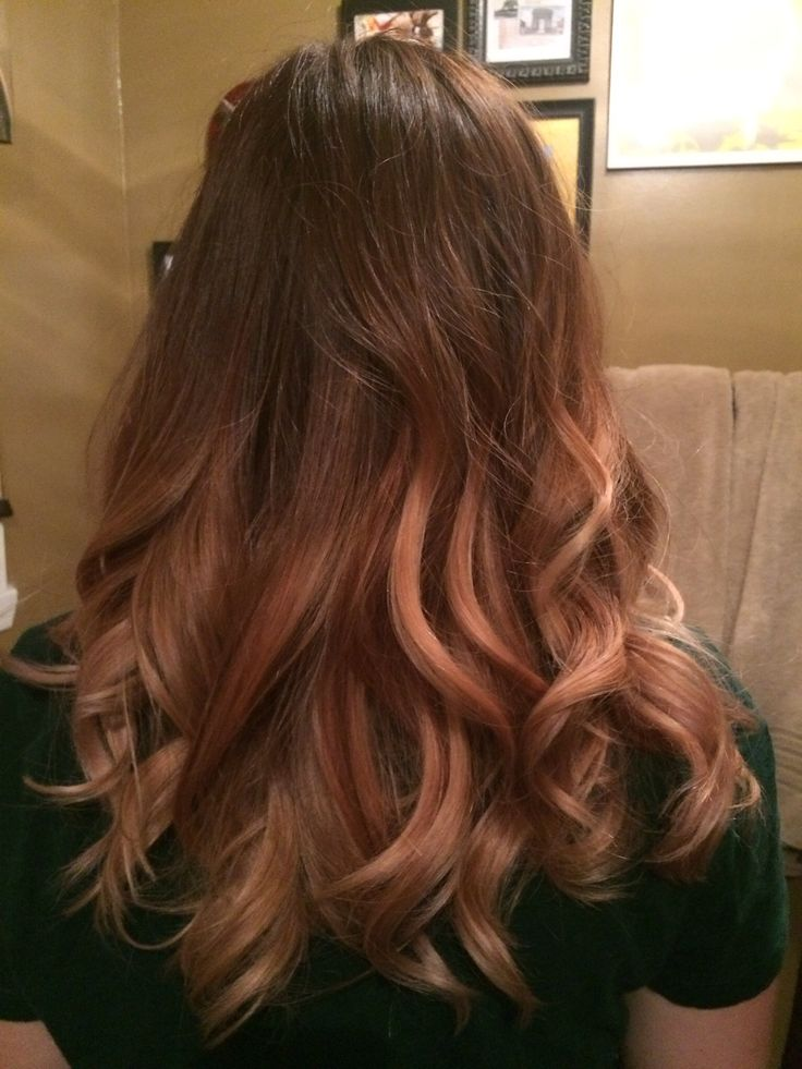 Soft Rose Gold Peach Ombre Hair Color Toner Formula 2