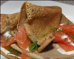 Galette de sarrasin au saumon fumé (facile, rapide) - Une recette CuisineAZ