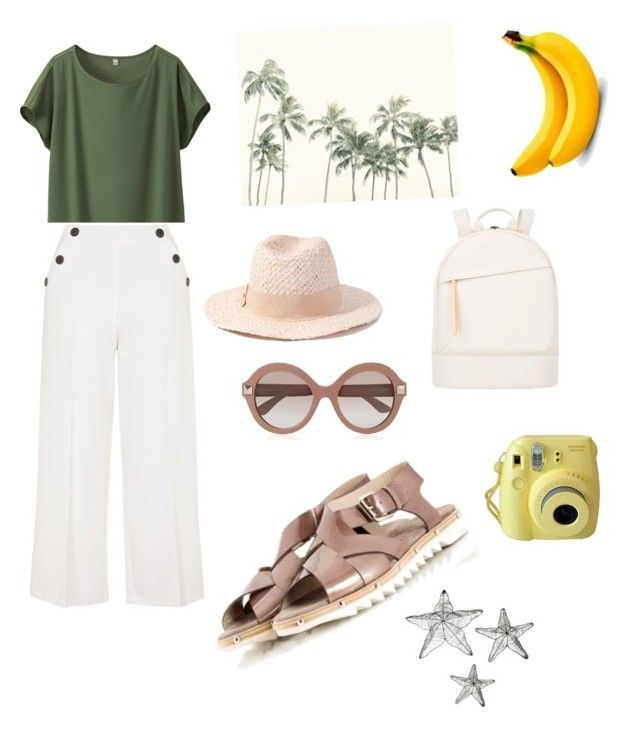 Palm beach.. by sheiscarla on Polyvore featuring polyvore, fashion, style, Uniqlo, Topshop, Attilio Giusti Leombruni, Fratelli Karida, Want Les Essentiels de la Vie, Forever 21, Valentino, women's clothing, women's fashion, women, female, woman, misses and juniors