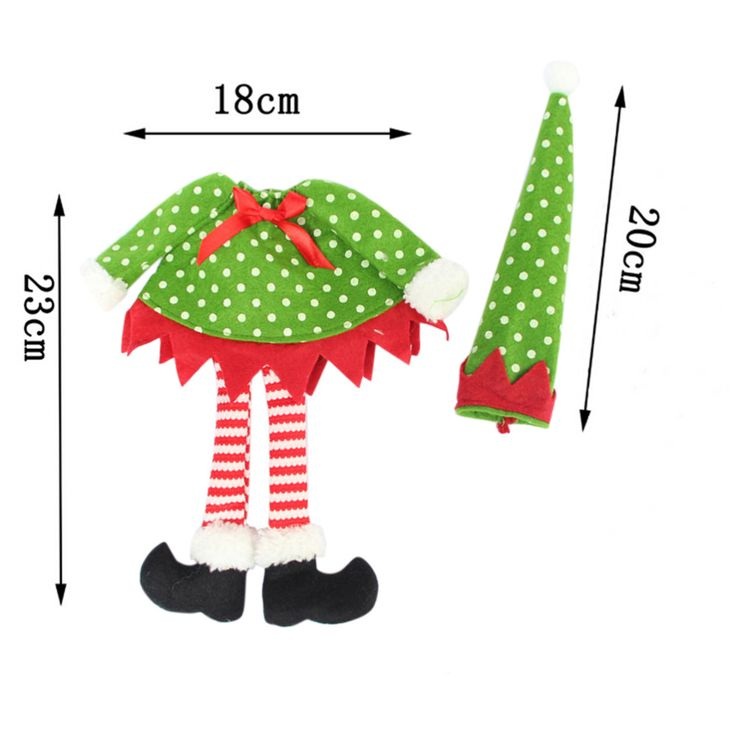 1 PCS Christmas Decoration supplies Polka Dot /stripe red Wine Bottle Cover Bags For Christmas home party red Wine Bottle decor